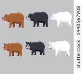 bear black white brown vector   Shutterstock .eps vector #1440567908