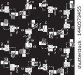 grunge halftone black and white ... | Shutterstock .eps vector #1440573455