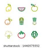 restaurant icons  monoline...   Shutterstock .eps vector #1440575552