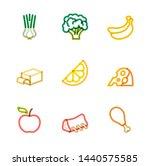 restaurant icons  monoline... | Shutterstock .eps vector #1440575585