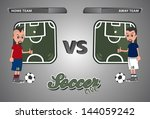 cartoon soccer game live   Shutterstock .eps vector #144059242