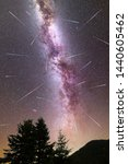 a view of a meteor shower and... | Shutterstock . vector #1440605462