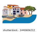 beautiful spanish town on the...   Shutterstock .eps vector #1440606212