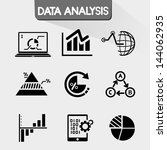 data analysis icons  data chart ... | Shutterstock .eps vector #144062935