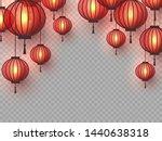 3d chinese hanging lanterns... | Shutterstock .eps vector #1440638318