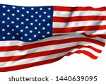 3d illustration a waving flag... | Shutterstock . vector #1440639095