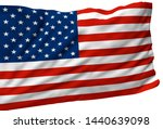 3d illustration a waving flag... | Shutterstock . vector #1440639098
