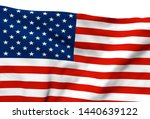 3d illustration a waving flag... | Shutterstock . vector #1440639122