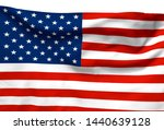 3d illustration a waving flag... | Shutterstock . vector #1440639128