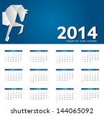 2014 new year calendar vector... | Shutterstock .eps vector #144065092