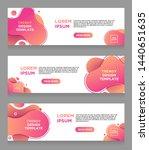 set vector abstract liquid... | Shutterstock .eps vector #1440651635