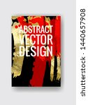 vector black  red and gold... | Shutterstock .eps vector #1440657908