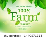 100  farm product typo with... | Shutterstock .eps vector #1440671315