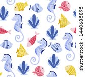 seamless vector pattern with... | Shutterstock .eps vector #1440685895