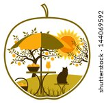 Vector Apple Harvest Scene In...