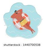 vector cartoon illustration of... | Shutterstock .eps vector #1440700538