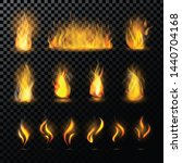 fire flame fired flaming... | Shutterstock . vector #1440704168