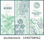 set of tree culinary herbs... | Shutterstock .eps vector #1440708962