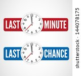 last minute and last chance... | Shutterstock .eps vector #144078175