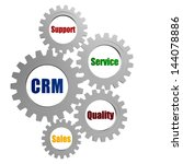crm  support  service  quality  ... | Shutterstock . vector #144078886