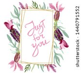purple lavender floral... | Shutterstock . vector #1440791552