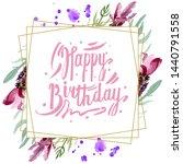purple lavender floral... | Shutterstock . vector #1440791558