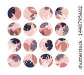 vector set design colorful... | Shutterstock .eps vector #1440795602
