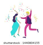 group of smiling young people... | Shutterstock .eps vector #1440804155