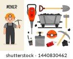 vector character miner.... | Shutterstock .eps vector #1440830462