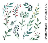 set watercolor elements  ... | Shutterstock . vector #1440835472