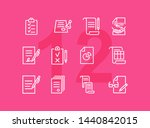 documents line icon set. set of ... | Shutterstock .eps vector #1440842015