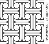 design seamless interlaced... | Shutterstock .eps vector #1440847298