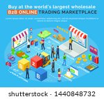 b2b online trading marketplace  ... | Shutterstock .eps vector #1440848732