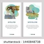 air pollution vector  water... | Shutterstock .eps vector #1440848738
