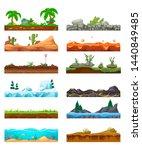 set of seamless game landscape  ... | Shutterstock .eps vector #1440849485