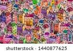 city. patterns. illustrations....   Shutterstock . vector #1440877625