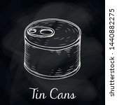 vector illustration of tin cans ... | Shutterstock .eps vector #1440882275