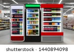 soda pop drinks and soft drinks ... | Shutterstock . vector #1440894098