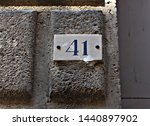 italy  road signal  number... | Shutterstock . vector #1440897902
