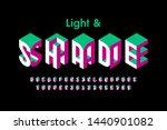 isometric style 3d font ... | Shutterstock .eps vector #1440901082