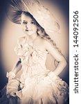 portrait of a charming little... | Shutterstock . vector #144092506