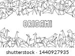 origami animals background.... | Shutterstock .eps vector #1440927935