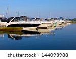 Yachts Anchored At Marina