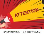 attention  hand holding... | Shutterstock .eps vector #1440949652