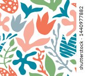 vector seamless abstract floral ... | Shutterstock .eps vector #1440977882