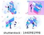 set isometric on the topics of... | Shutterstock .eps vector #1440981998