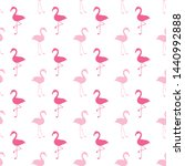 seamless pattern with pink... | Shutterstock .eps vector #1440992888