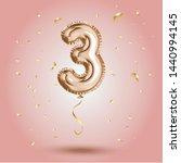 elegant pink greeting... | Shutterstock .eps vector #1440994145