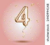 elegant pink greeting... | Shutterstock .eps vector #1440994148