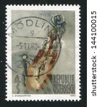 austria   circa 1980  stamp... | Shutterstock . vector #144100015